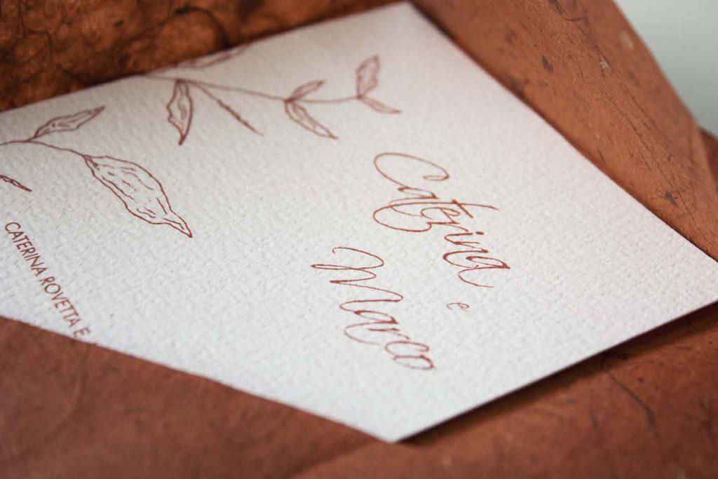 Partecipazioni di matrimonio autunnali