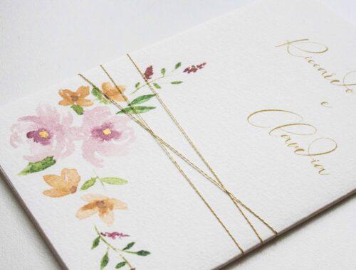 Partecipazioni di matrimonio con ceralacca