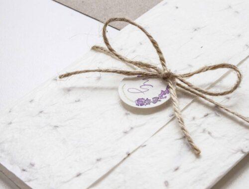 Partecipazioni di matrimonio personalizzate carta piantabile