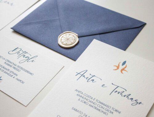 Partecipazioni di matrimonio personalizzate - Sorrento - Costiera